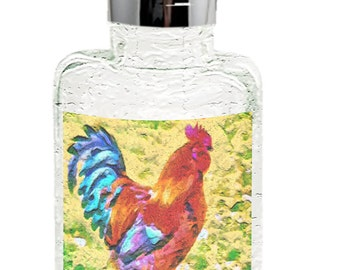 Rooster 'Craw' Glass Soap/Lotion Dispenser