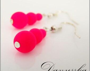 Pink Neon Earrings