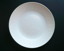 Sango Strafito Dinner Plate / White Porcelain Plate / PAT.162049 / Made in Japan Fine China / Serving