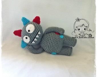 Monster Plushie - PDF Crochet Pattern - Instant Download