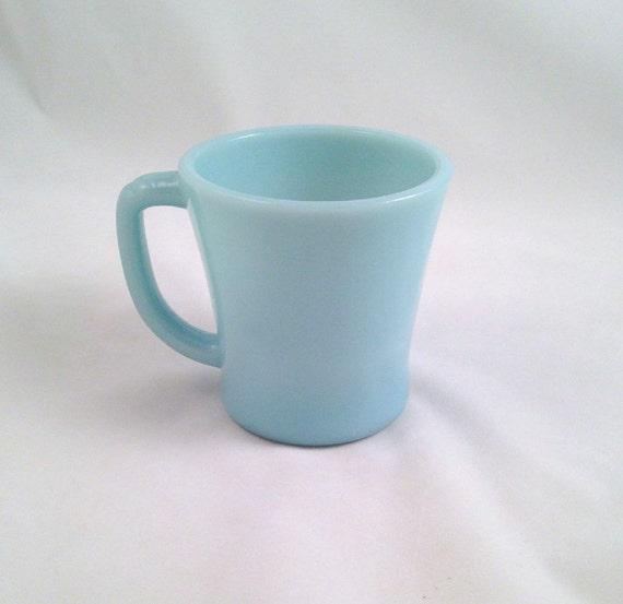 Fire King Turquoise Blue Delphite Standard Mug D Handle Coffee