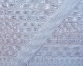 3/8 WHITE Fold Over Elastic 5 or 10 Yards