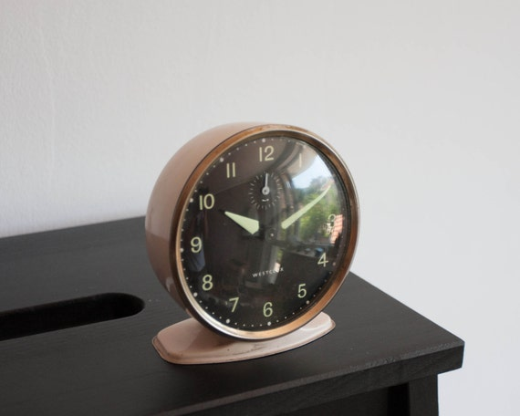 Art deco alarm clock westclox desk clock made in scotland Art deco alarm clocks