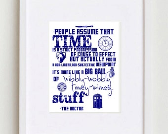 Dr Who Quote - Time Progression...Timey Wimey || Instant Download