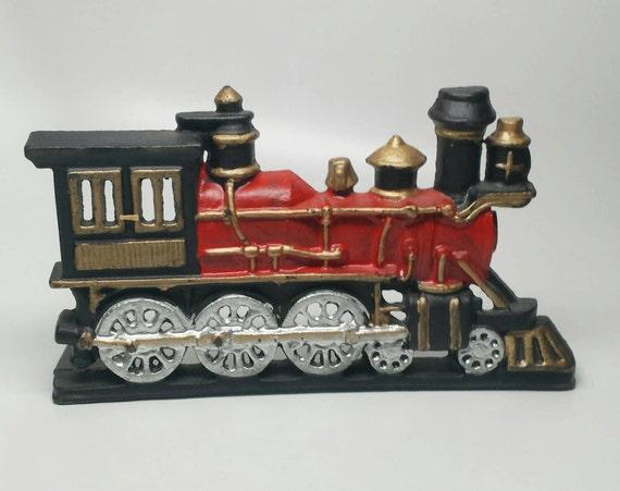Nycrr Cast Iron Train: Vintage Cast Iron Train Locomotive Engine Door Stop