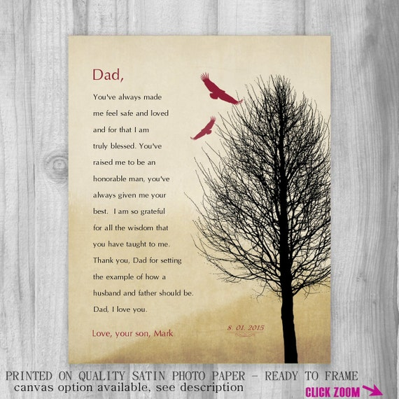 Wedding Gift For Father Remarrying : Gift for Dad FROM SON Dad Wedding Gift for Father from Groom Art Print ...