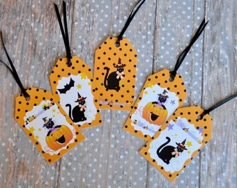 Cute Halloween Gift Tags - set of 10