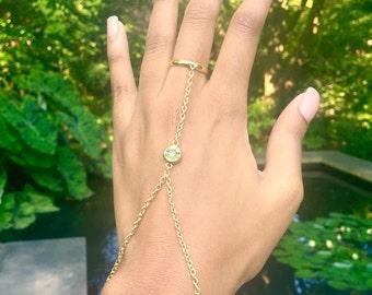 Gaia Hand Bracelet / Hand Chain