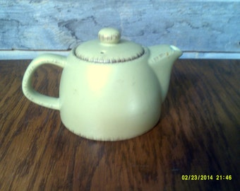 Vintage Individual Pottery Teapot, Small Teapots, Green Teapots, Little Teapots, Two Cup Teapot, Tiny Teapots, Vintage Teapots