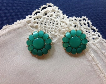 Faux Turquoise Earrings, Thermoset