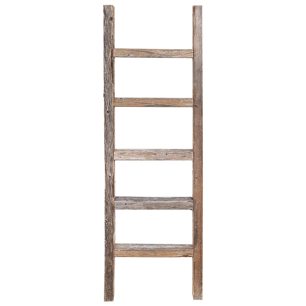 Decorative Ladder Reclaimed Old Wooden Ladder 4 Foot Rustic