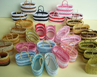 Straw beach bags - empty for you to fill - light enough to add to your order