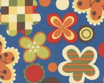 OOAK #1371 - 2 yards - Avant Garden Flowers Blue Fabric by MoMo