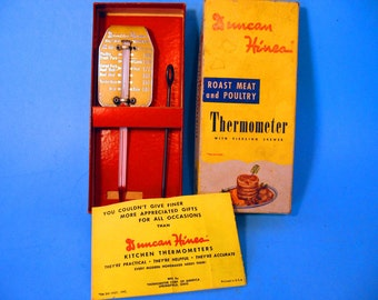 1940s Duncan Hines Roast Meat and Poultry Thermometer With Piercing Skewer