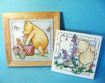 Winnie the Pooh picture tiles, Disney, Nursery Decor