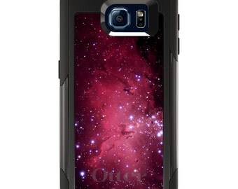 OtterBox Commuter for Galaxy S4 / S5 / S6 / S7 / S8 / S8+ / Note 4 5 8 - CUSTOM Monogram - Any Colors - Hot Pink Black Stars Nebula