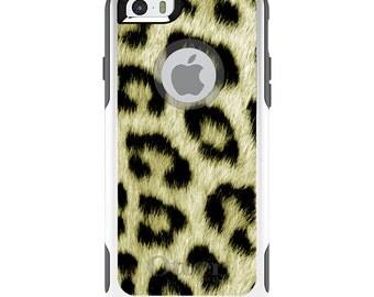 OtterBox Commuter for Apple iPhone 5S SE 5C 6 6S 7 8 PLUS X 10 - Custom Monogram - Any Colors - Yellow Black Leopard Fur Skin
