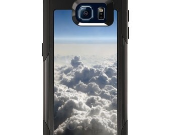 OtterBox Commuter for Galaxy S4 / S5 / S6 / S7 / S8 / S8+ / Note 4 5 8 - CUSTOM Monogram - Any Colors - Blue Sky Above Clouds