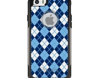 OtterBox Commuter for Apple iPhone 5S SE 5C 6 6S 7 8 PLUS X 10 - Custom Monogram - University of North Carolina UNC Tar Heels Colors Argyle