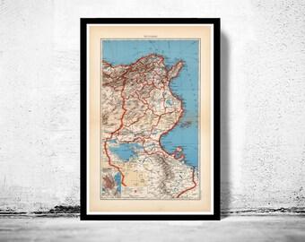 Old Map of Tunisie Tunisia