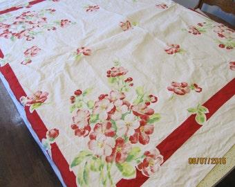 1950's Table Cloth 50 x 50
