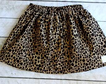 girls leopard skirt leopard fall skirt fall skirt summer skirt fall clothing birthday skirt black and brown clothing