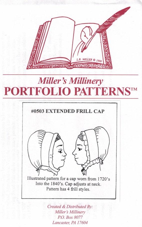 MI0503 - 1700s a 1820s extendido volante tapa costura patrón de ...
