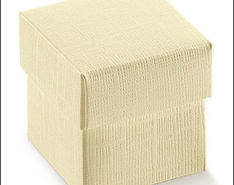 ivory favor box cardboard storage box for DIY wedding or event ceremony '' 5 x 5 x 5