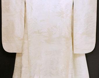 Japanese wedding kimono robe with cranes  WK5