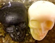 LARGE SKULL CANDLES- Hoodoo, Voodoo, Conjure, Figure Candles, spells,