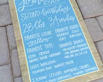 Modern Milestone Chalkboards - First Birthday