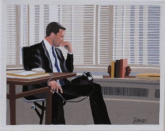 Mid Century Modern Eames Retro Limited Edition Print from Original Painting Don Draper