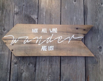 """Reclaimed wood sign 