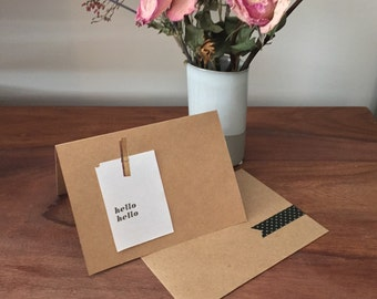 Simple note cards - set of 4