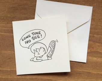 Simple, whimsical and cute Greeting card