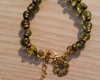 Autumn hues beaded bracelet