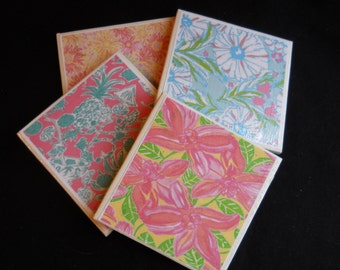 Tropical Flower Coasters ~ Ceramic Tile Coasters ~ Flower Coasters ~ Drink Coasters ~ Home Decor ~ Shower Gift ~ Housewarming Gift