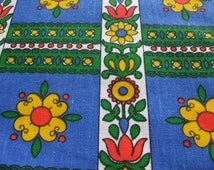70s flower fabric 50 x 120 cm