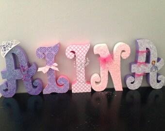 Custom wood letters. Wedding decor. Nursery decor. Home decor. Uppercase letters.