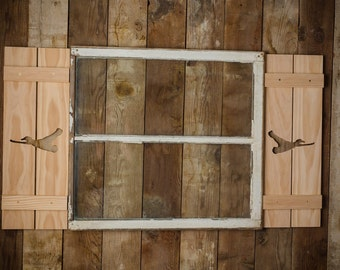 Exterior Flying Mallard Shutter made of Premium Pine perfect for your Cabin, cottage, or beach house great rustic northwoods decor