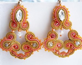 """Soutache earrings """"trio"""""""