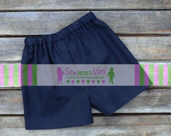 BLACK SHORTS for Boys or Girls Basic Black Cotton 12 mo 18 mo 24 mo 3T 4 5 6 7 8