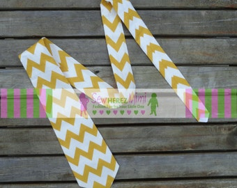 Mustard Chevron Necktie Sizes Infant, Child, Youth, Teen, Men