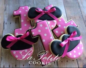 Minnie Mouse Sugar Cookies (1 dozen)