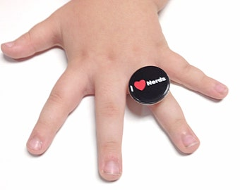I heart nerds ring, geek ring, nerd ring