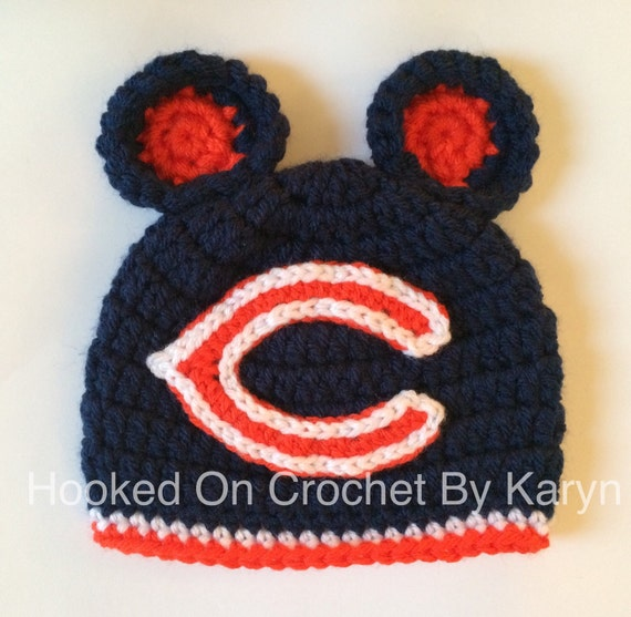 Chicago Bears inspired Crochet Hat