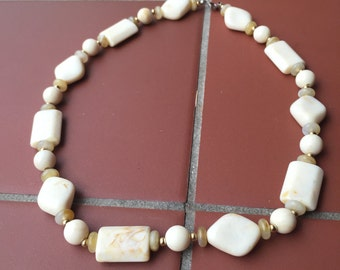 "Vintage ""Stone"" Bead Necklace"