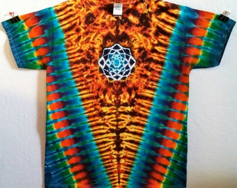 Fire V Rainbow Mandala Tie Dye Shirt