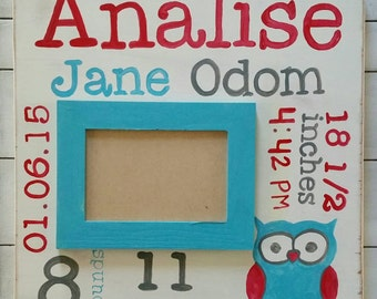 Baby birth stat frame