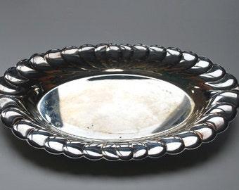 Tray Silverplate Medium Oval Wm Rogers Waverly Pattern